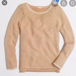 J. Crew Factory Chevron Stitch Boatneck Sweater